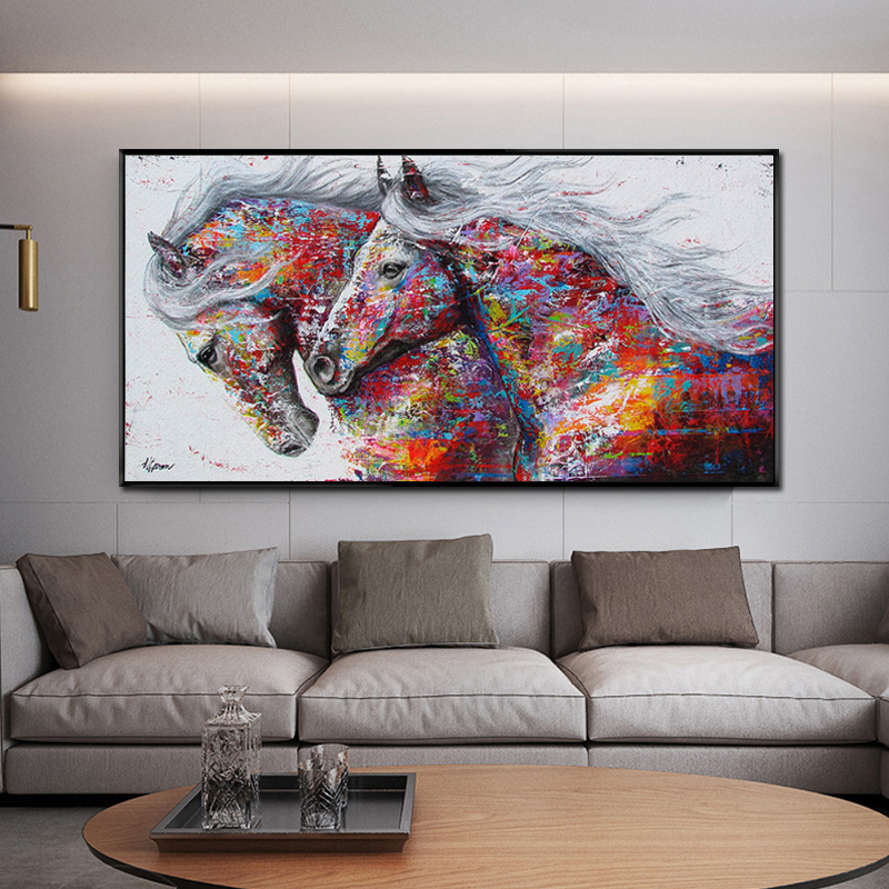 Home Decor Living Room Art Wall Horse Oil Painting Printed On Canvas