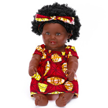 New Arrival African Black Doll 50CM Reborn Baby Dolls Handmade Silicone Vinyl Adorable Girls Cute Re