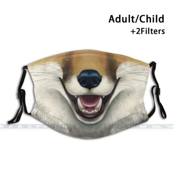 Red Fox Face - Lighter Color Fashion Print Reusable Funny Pm2.5 Filter Mouth Face Mask Vulpes Vulpine Fox Redfox fox print nightdress