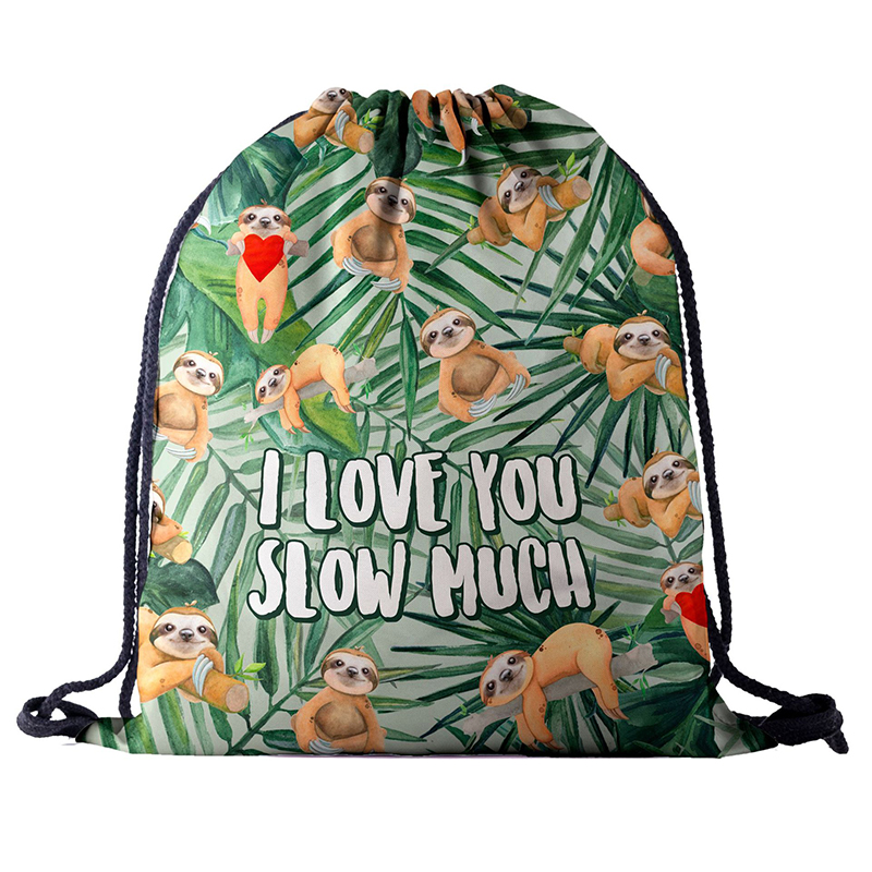 Backpack Drawstring BAGS Drawstring Fashion 3D Printing Travel Softback Men Bags UNISEX Women's Shoulder Bag Knapsack Letter