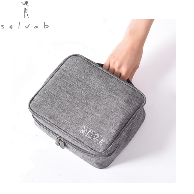 2019Travel Cosmetic Bag Functional Hanging Zipper Makeup Case Necessaries Organizer Storage Pouch Toiletry Make Up Wash Bag
