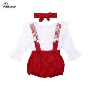 Christmas Sister Matching Kid Baby Girl Ruffle Dress Top Fly Sleeve T Shirt Bib Pants Outfit Girl Clothes Set(China)