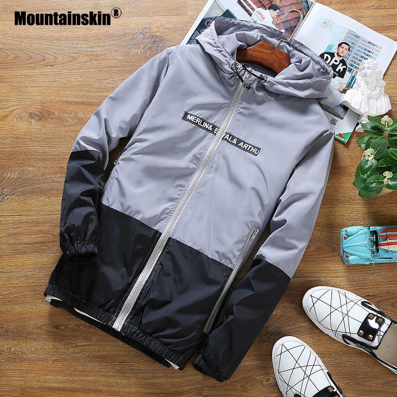 Alpinskin hommes à capuche vestes printemps automne mâle mince lumière veste patchwork mode Slim Fit manteaux marque vêtements SA769