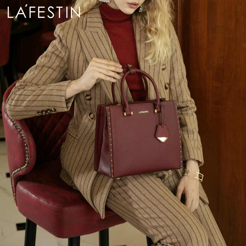 LA FESTIN 2018 New Women Handbag Leather Tote Handbags Luxury Multifunctional Versatile Bag Ladies Luxury Handbags Designer Bag