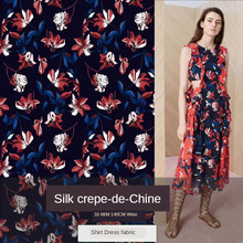 140*100CM Baru 16 M/MX 100% Mulberry Sutra Crepe De Chine Digital Printing Kain Kemeja Gaun fashion Kain Sutra(China)