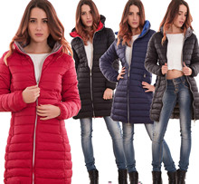ZOGAA Long section winter coat Casual fashion Hooded women 2019 New  4 colors puffer jacket Warm Parkas