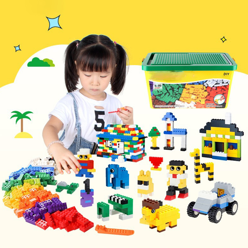 Educational DIY Multi-function Building Blocks Sets 500/<font><b>1000</b></font> <font><b>Pcs</b></font> Creative Colorful Bricks Toys Children Favorite Presents image