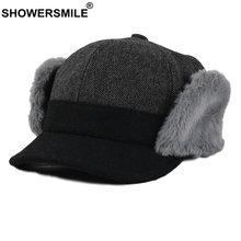 Showersmile женские зимние шапки теплая шапка бомбер ушанки