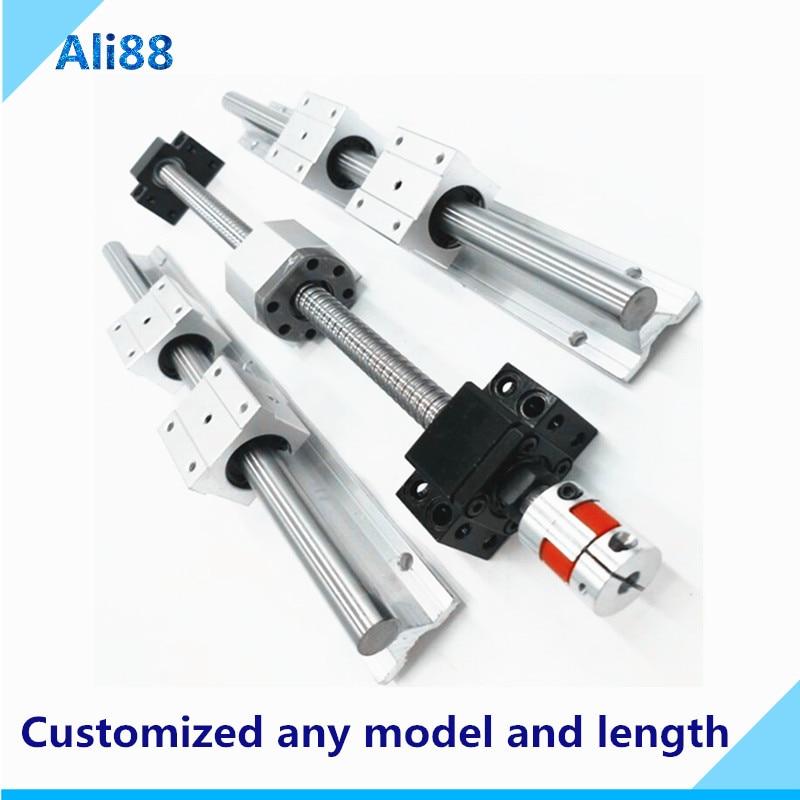 CNCCANEN SFU1605-500mm Ballscrew RM1605 Ball Screws Ending Machined 1Set BK//BF12 and DSG16H Nut Housing for CNC Route 3D Printer DIY