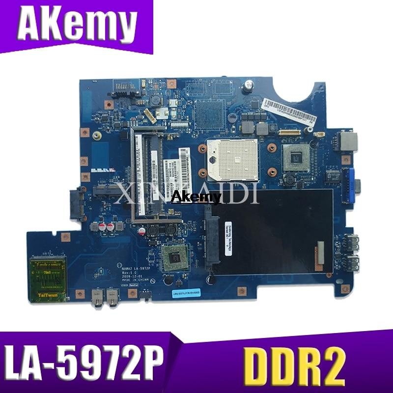 NAWA2 LA 5972P for lenovo G555 notebook G555 laptop motherboard NAWA2 LA 5972P mainboard DDR2 Test original mothebroard|Motherboards| |  - title=