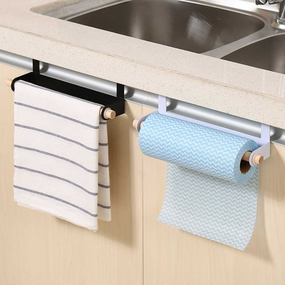 Multi Purpose Nail Free Rack For Kitchen Roll Toilet Paper Towel