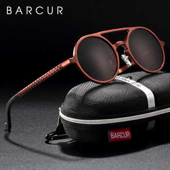 BARCUR Retro Aluminum Magnesium Sunglasses Polarized Vintage Eyewear Accessories Women Sun Glasses Driving Men Round Sunglasses - DISCOUNT ITEM  60% OFF All Category