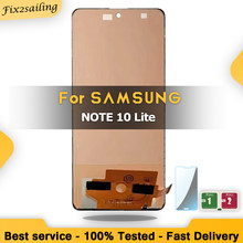 100% Tested TFT INCELL For Samsung Galaxy Note 10 Lite N770 LCD Display Touch Screen With/no Frame Digitizer Assembly Replacemen