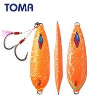 TOMA 1pc metalowa węda ciągniona przynęta 200g 300g ołowiu ryby Glow powolne Pitch Jigging Assist Hook tonący słonowodne połowów głębinowych