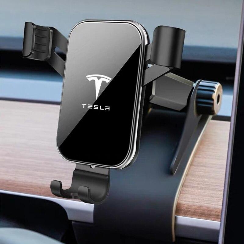Car Phone Holder Dashboard Mount Stand Car Cell Phone Holder GPS Display Bracket For Tesla Model 3 2017-2019