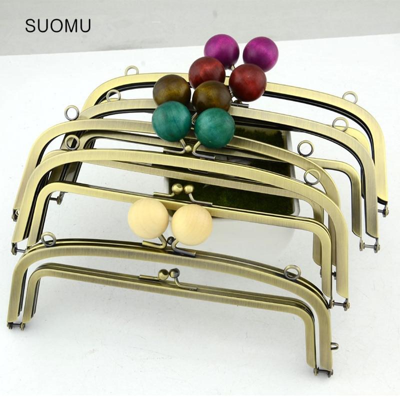 Metal Purse Frame Women Handle Clutch Bag Accessories DIY HandBag Bronze Frame Kiss Multicolor Clasp Lock Hardware Wholesale