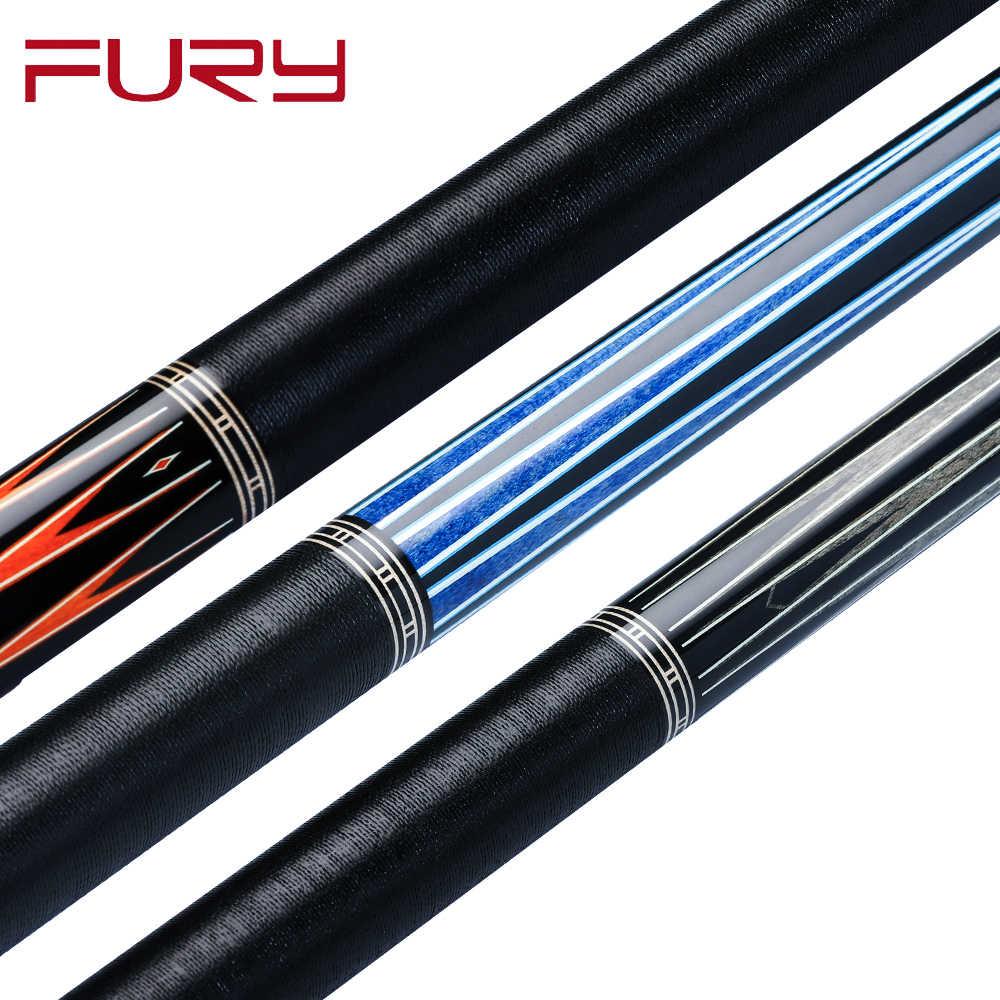 Fury Billar piscina Cue CL6 Stick Kit 13mm Punta de tigre hecho a mano Arce HTE alta tecnología eje profesional Billar con buenas fundas