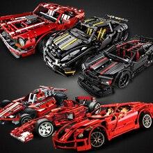 Geri çekin araba teknik Racer MOC setleri modeli yapı taşları setleri DIY çocuk oyuncakları çocuklar için tuğla kas süper