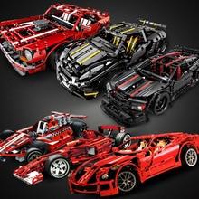 Pull Back Car Technic  Racer  MOC Sets Model Building Blocks Kits DIY Kids Toys for Children Bricks Muscle Super