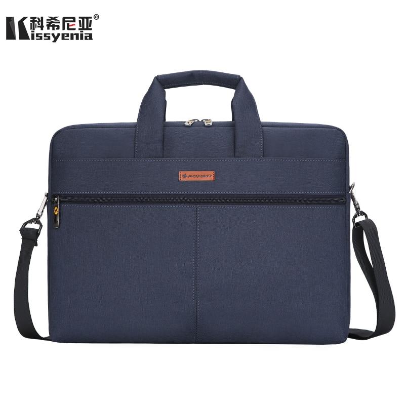 Kissyenia 14 Inch Laptop Briefcase Men Business Travel Handbag A4 Computer Bag Anti Theft Portfolio Travel Shoulder Bags KS1037