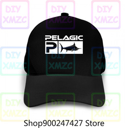 Chapéu de beisebol aquático de pesca pelágica preto