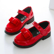 Kids Children School England Leather Shoes For Teens Girls Wedding Party Princess Single Shoes 4 5 6 7 8 10 12 13 Years New 2020(China)