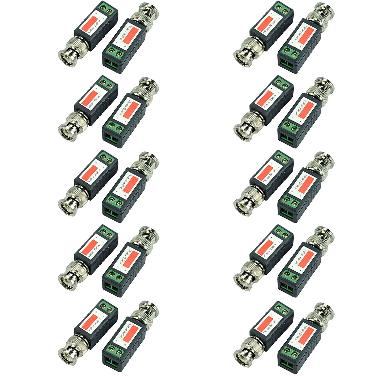 10 Pairs Single 1 Channel BNC Connector Coaxial Adapter For Balun CCTV Camera DVR BNC UTP Passive Video Transceiver