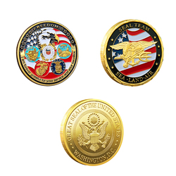 USA Navy USAF USMC Army Coast Guard American Free Eagle Totem Gold Military Medal Challenge Coin Collection Commemorative Coin