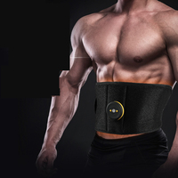 Wireless Vibration Fitness Massager Body Slimming Belts Electric Muscle Stimulator Trainer EMS Abdominal Abs Toning Belt