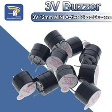Active Buzzer Alarm Beep-Tone Piezo Magnetic Long-Continous MINI 10pcs 3v 12mm Ringer