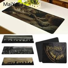 Top Quality The Lord Of The Rings Movie Large Mouse pad PC Computer mat Large Gaming Lockedge Mouse Mat Keyboard Pad(China)