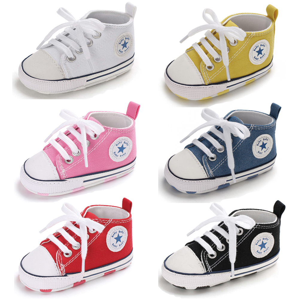 Newborn Baby Shoes Boy Girl New Canvas Multicolor Sneaker Cotton Comfort Infant Shoes First Walkers Toddler Crib Shoes
