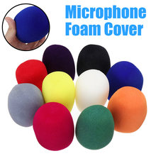 Лидер продаж 10 шт разноцветные ручные микрофон в форме шара