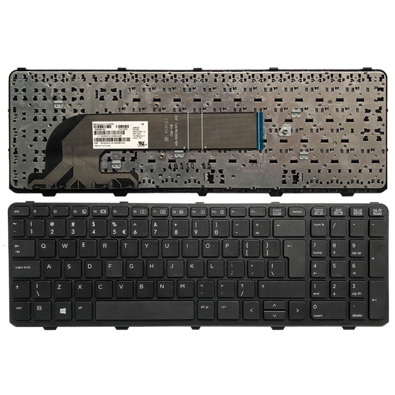UI Laptop Keyboard For HP PROBOOK 450 G0 450 G1 450 G2 455 G1 455 G2 470 G0 470 G1 470 G2 Keyboard With Frame