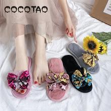 New Summer 2019 Hong Kong-style Slippers Cute Ins Mao Sandals Fashion Joker Flat Bottom 15