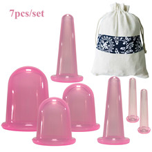 Suction-Cups Vacuum-Cans Silicone Chinese Facial 7pcs for Massage Bubble Body Slimming