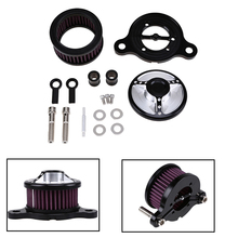цена на Motorcycle Universal Air Filter Cleaner Aluminum Intake Filter System For Harley-Davidson Sportster 883/1200 Accessories