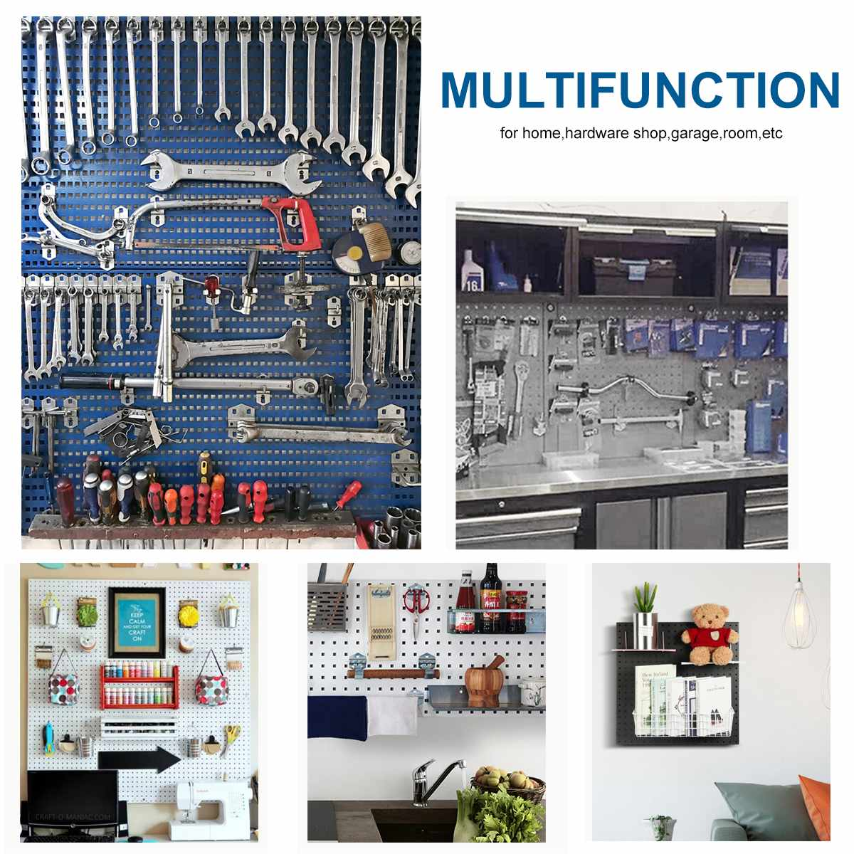 For Heavy And Multifunction Small Hanging Board Board Mounted Steel Wall Organizer Parts Panels Tool Tool  Duty Pegboard Storage