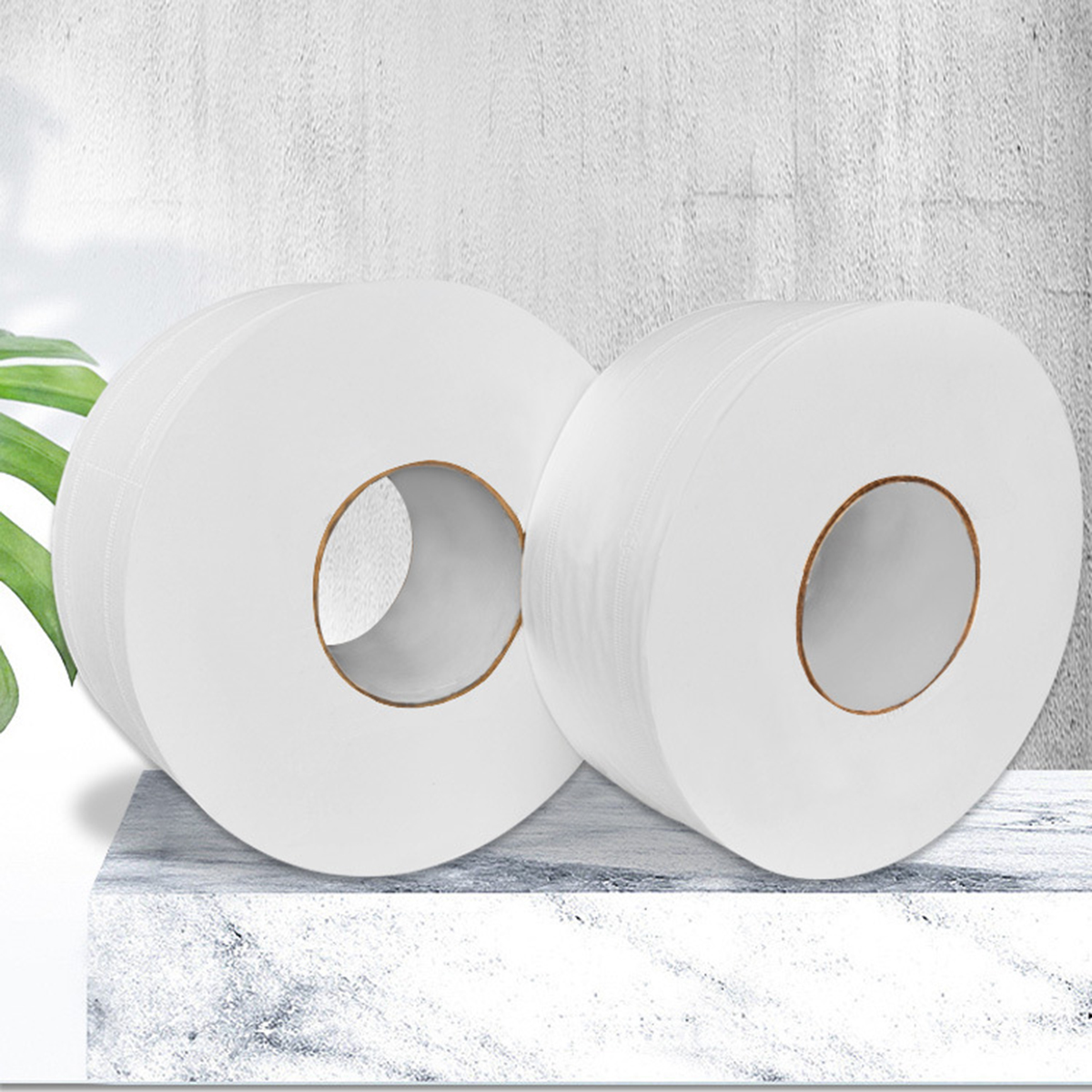 1 Roll Top Quality Jumbo Roll Toilet Paper 4-Layer Native Wood Soft Toilet Paper Pulp Home Rolling Paper Strong Water Absorption 1