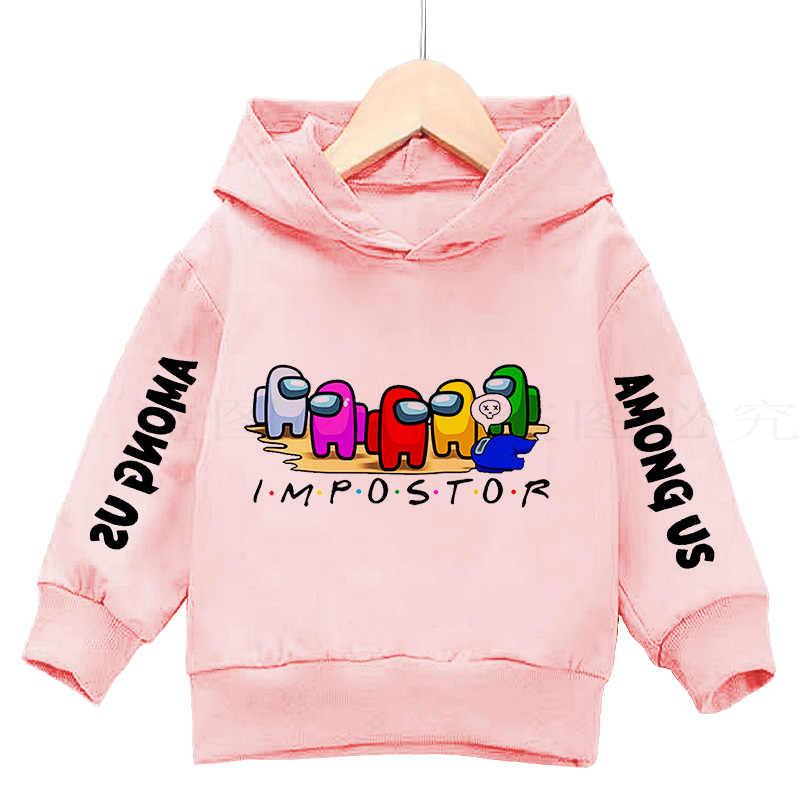 Among Us Game Kids Hoodie Boys Girls Hooded Sweatshirt Jumper Tops Xmas Gifts
