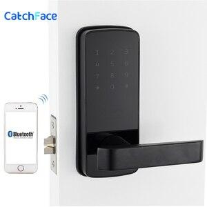 Image 5 - قفل الباب الالكتروني بدون مفتاح قفل ذكي APP بلوتوث قفل باب رقمي للمنزل والأمن شقة