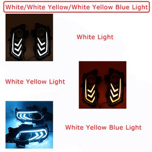 Image 2 - 2PCS Daytime Running Light For Ford Mondeo Fusion 2013 2014 2015 2016 Car DRL 12V LED With Turn Yellow Signal Relay Accessories