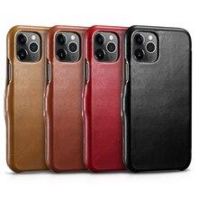 4 цвета, новинка, icarer, брендовый, настоящая кожа, роскошный, тонкий, флип, полностью зернистый, кожаный чехол для iPhone 11 Pro Max, Деловой, Магнитный чехол