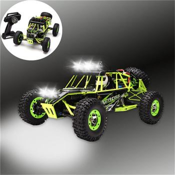 Wltoys 12428 RC Car 4WD 2.4Ghz 1:12 Radio Remote Control Crawler Off-road Model Toy High Speed 50km/h Vehicle With LED Light 4