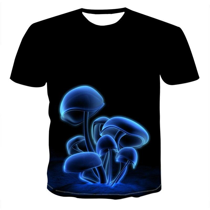 Camiseta suelta de manga corta 3D para hombre con estampado interesante Tops 2021 verano nuevo
