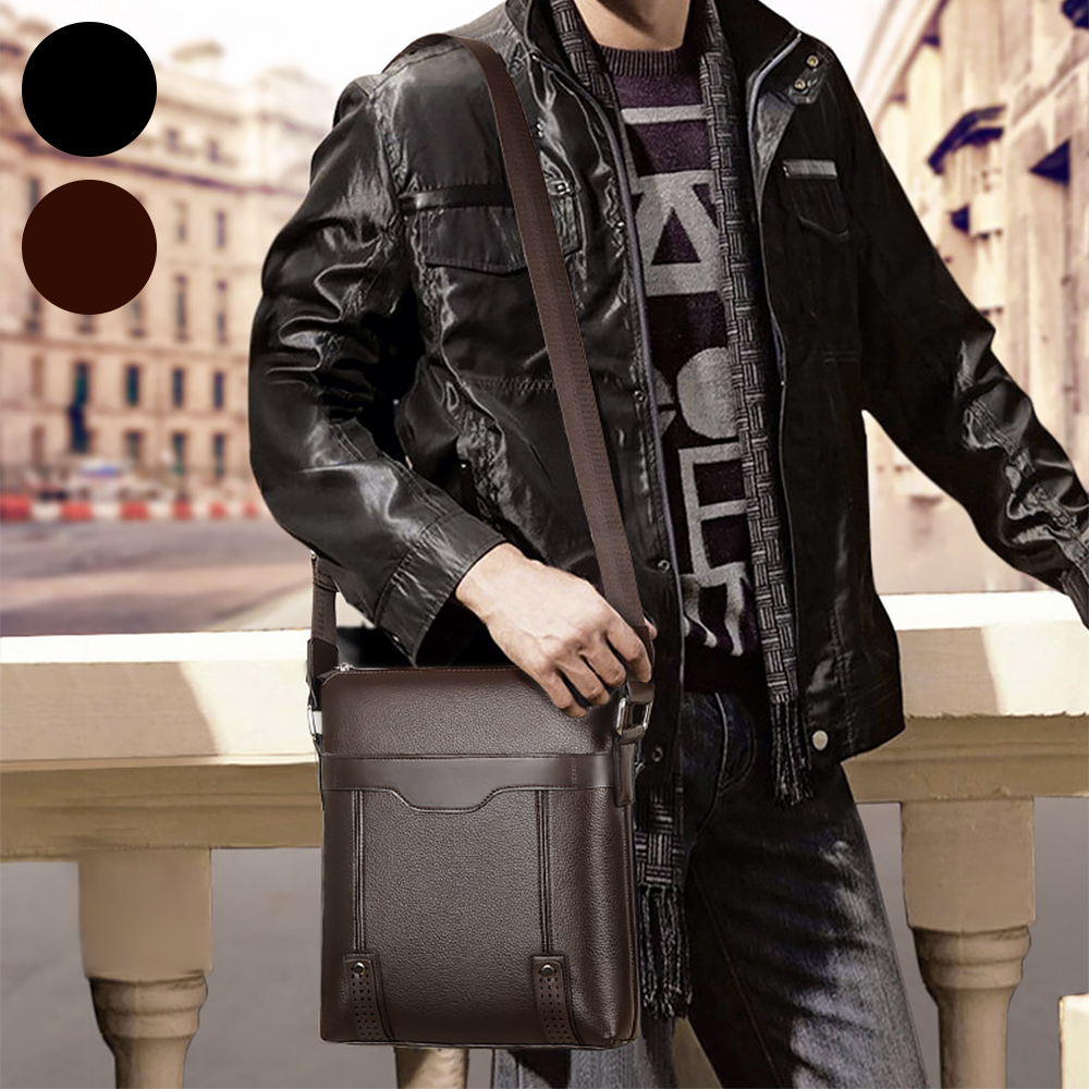 Handbag Men's Messenger Bag Pu Leather Bag Business Shoulder Crossbody Bags For Male Black Brown Sac Homme Small Briefcase