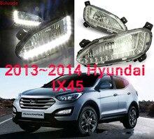 цена на 1 Pair LED Fog Lights Daytime Running Light For Hyundai Santa Fe IX45 2013 2014 2015 Car Accessories Waterproof 12V Fog Lamp