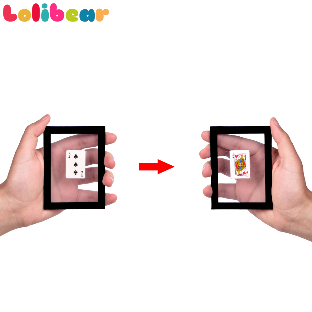 Card Changing Frame Magic Tricks Stage Close-up Magia Card Appearing Vanishing Magie Illusion Gimmick Props Toys For Children