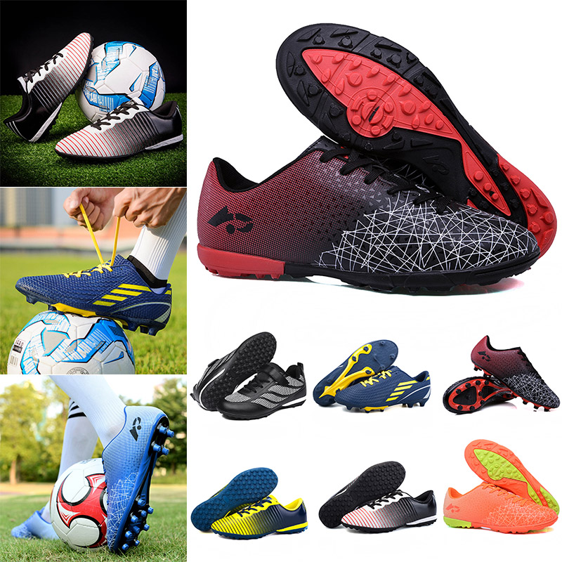 Men Boys Cleats Soccer Shoes Indoor Football Sports Shoes Athletic Sneakers Training Football Boots High Ankle Sport Sneakers