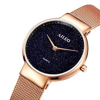 Montres pour femmes Ultra-minces de marque AILUO France de luxe pour femmes, japon, mouvement à Quartz miborough, horloge étanche saphir A7622